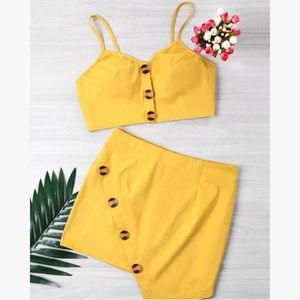 Yellow Two Piece Set